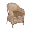 Image of Cozy Bay® Sicilia Rattan Classic 2 Seater Tea For Two Set in 4 Seasons with Brown Cushions