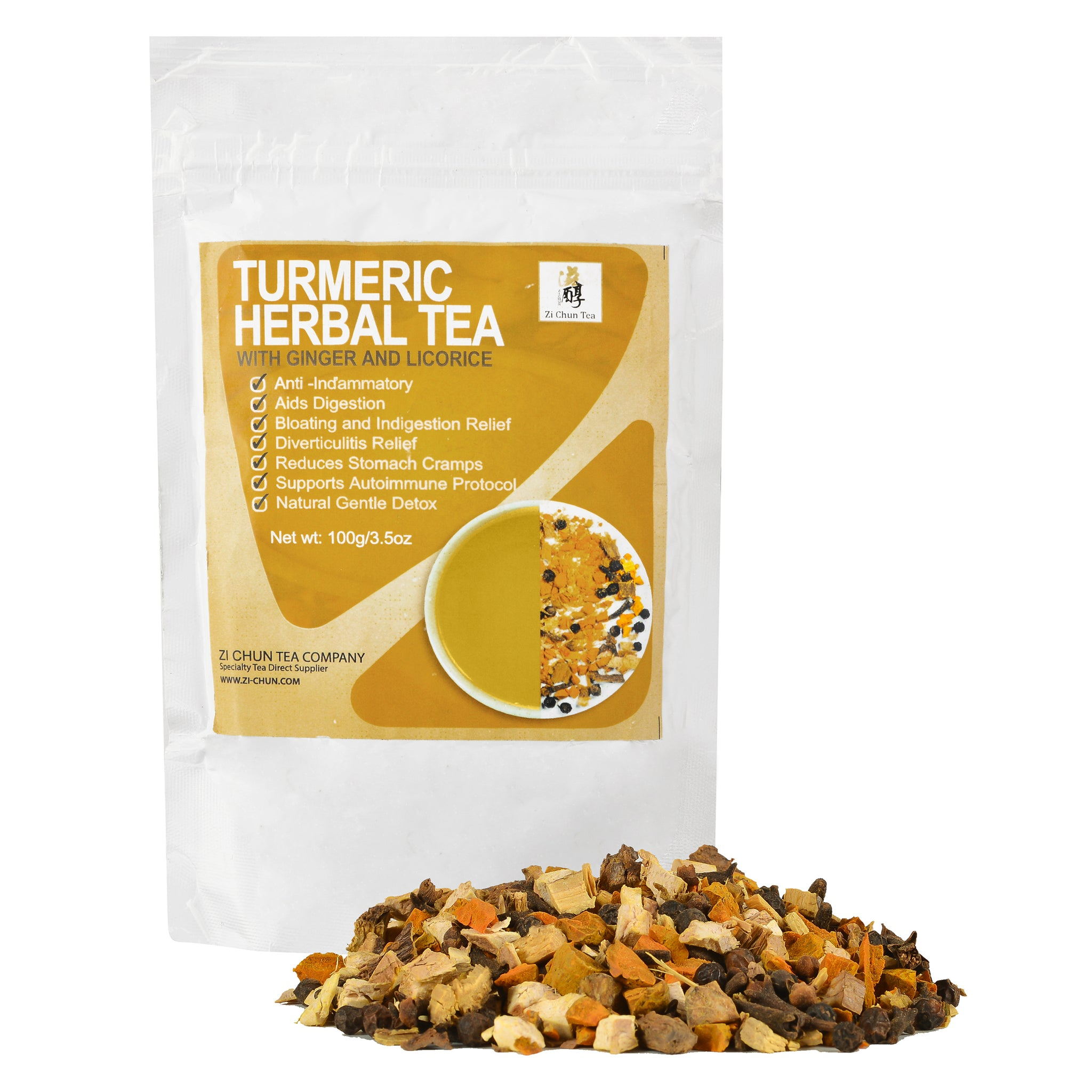 Turmeric Tea with Ginger - Stomach Support and Anti-Inflammatory Tea