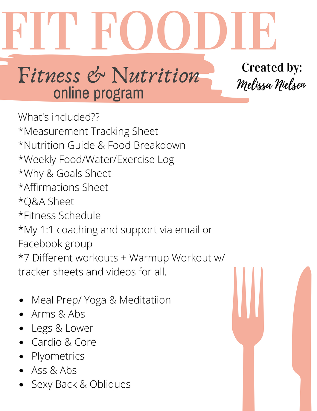 Fit Foodie 4 Week Online Fitness and Nutrition Program (Promo Price!!)