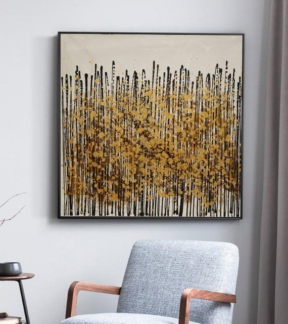 Yellow Flower, This Is An Abstract Painting,The Whole Picture Is Clean And Concise - arttide