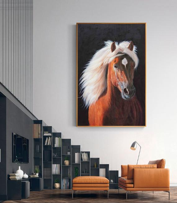 A Brown, Noble, Painted. A Powerful Horse. He Is The Gift Of Success - arttide