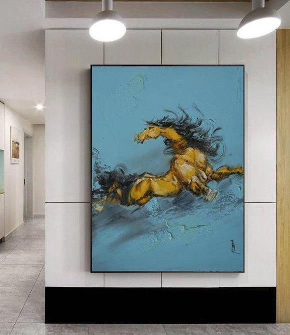 This Is A Realistic Painting. A Galloping Horse-I. - arttide