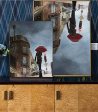 Load image into Gallery viewer, The Young Girl Hurries On The Street In The Rain-I