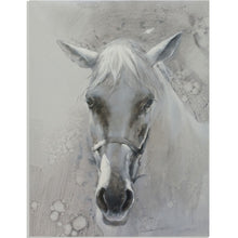 Load image into Gallery viewer, A White Horse Gazed Into The Distance, Like The Messenger Of Winter - arttide