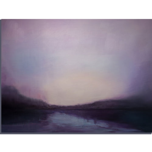 Lake Afterglow. The Lake Under The Night Sky, - arttide