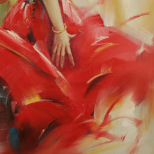 Load image into Gallery viewer, A Dancer In A Red Dress. Sexy Dance Gives People A Strong Sensory Stimulation - arttide