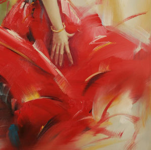 A Dancer In A Red Dress. Sexy Dance Gives People A Strong Sensory Stimulation - arttide