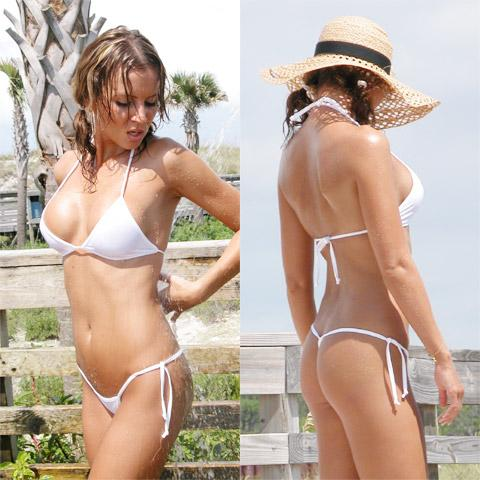 Image of G-String Micro Tie Thong Bikini & Connected T-Top - Freshkini