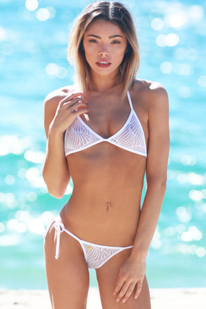*NEW* WAVE LACE TONGA TIE THONG BIKINI - Freshkini