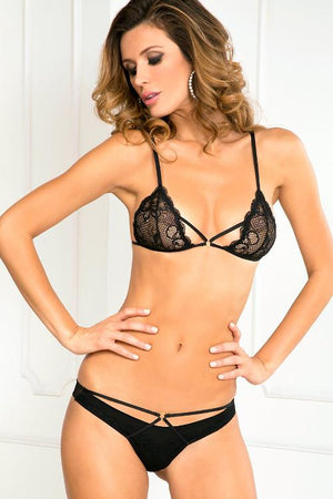 Provacative 2 Piece Bra and Panty Set - Freshkini