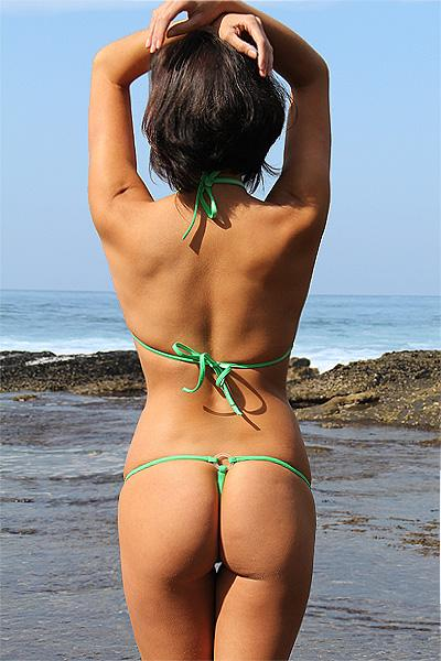 See Through Mesh G-string Thong (Water Melon) - Freshkini