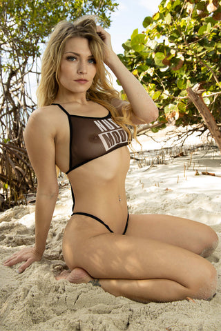 Image of sheer swimwear