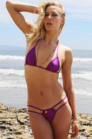 Image of Strappy String Thong Bikini in PASSION - Freshkini