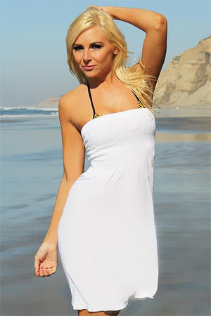 Seamless Tube Dress (White) - Freshkini