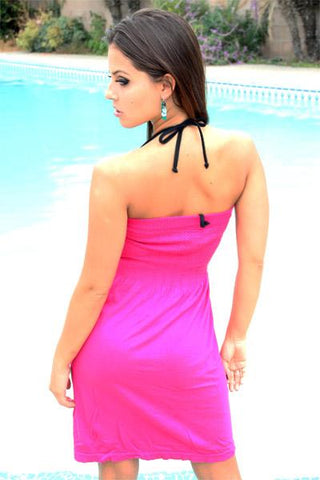 Seamless Tube Dress (Fuschia) - Freshkini
