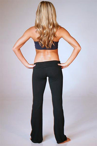 Long Yoga Pants ( Color: Black) - Freshkini