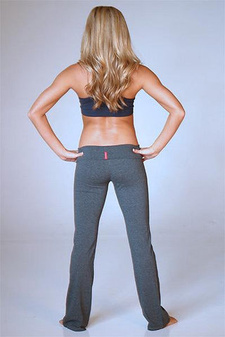 Long Yoga Pants ( Color: Grey) - Freshkini