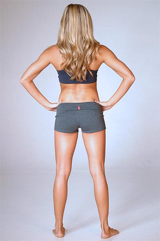 Yoga short ( Color: Grey) - Freshkini