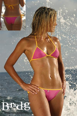 Bubble Gum Brazilian Tie (Yellow/Pink) - Freshkini