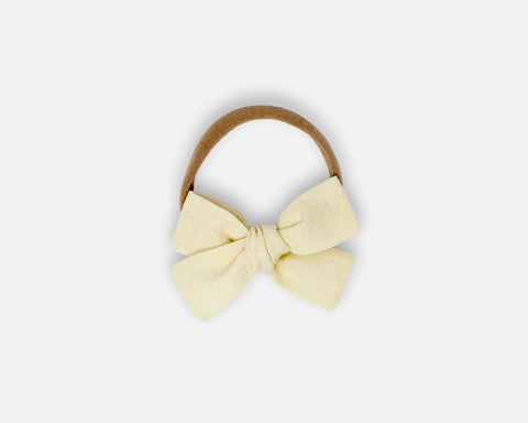 Petite Bow in Ivory - Linen