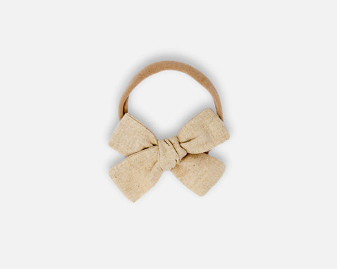 Petite Bow in Natural - Linen