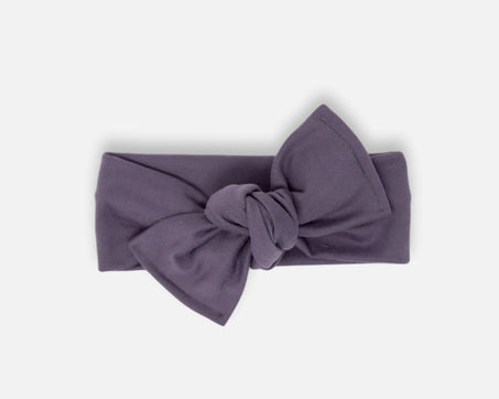 Dark Lavender - Tie On Head Wrap