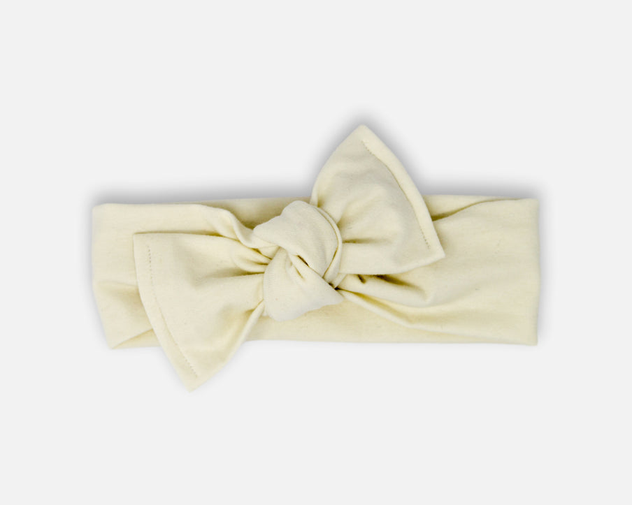 Linen White - Tie On Head Wrap