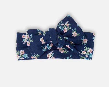 Floral Bouquet in Navy - Tie On Head Wrap