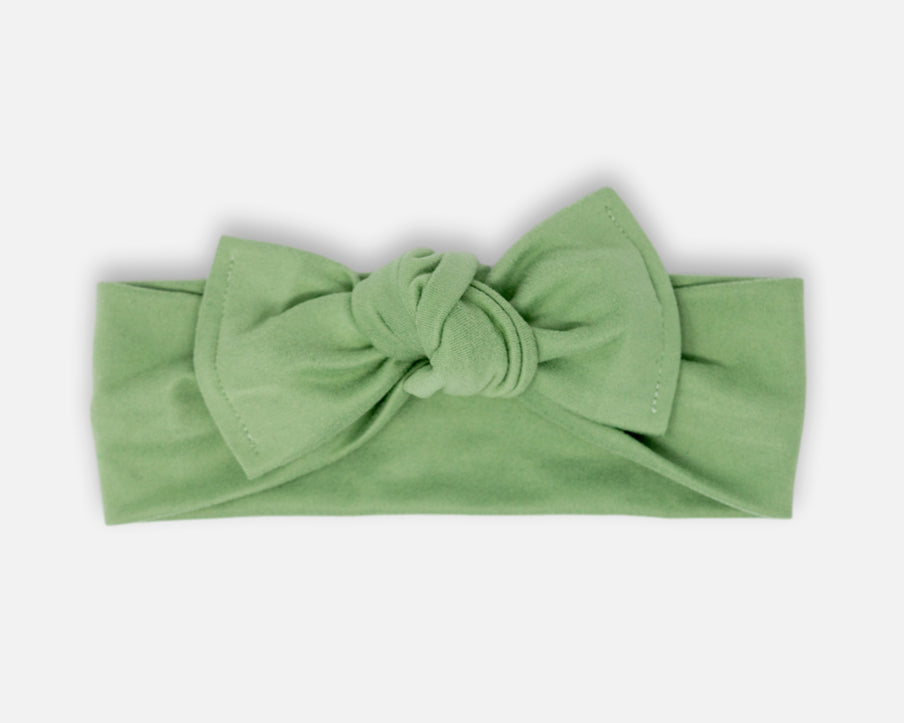 Sage Green - Tie On Head Wrap