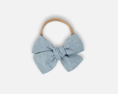 Chambray - Classic Bow - Linen