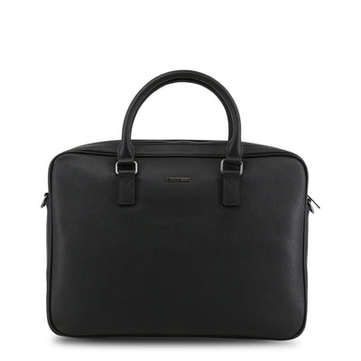 Armani Jeans 932530_CD991 Faux Leather Briefcase in Black