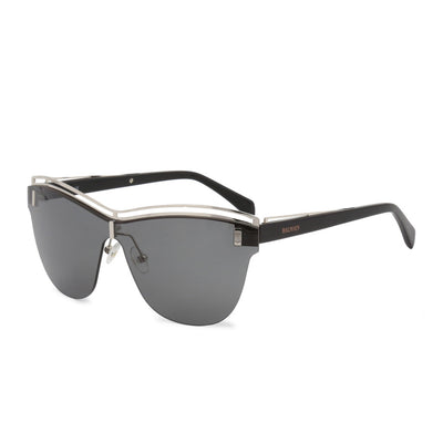 Balmain BL2108B UV3 Metal Frame Gradient Sunglasses in Black