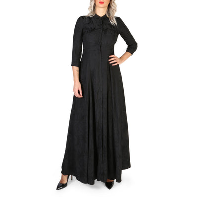 Guess - W84K0F_RAD80 Long Sleeve Maxi Dress in Black