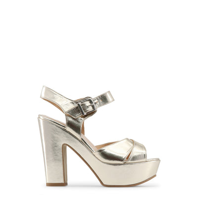 Made in Italia - ENIMIA Block Heel Platform Sandals in Yellow Platinum