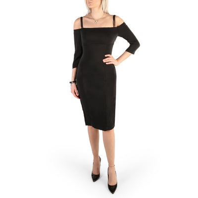 Guess - 82G761_8703Z Long Sleeve Pencil Midi Dress in Black