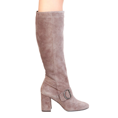 Fontana 2.0 ROMI Leather Suede Knee Length Boots in Beige