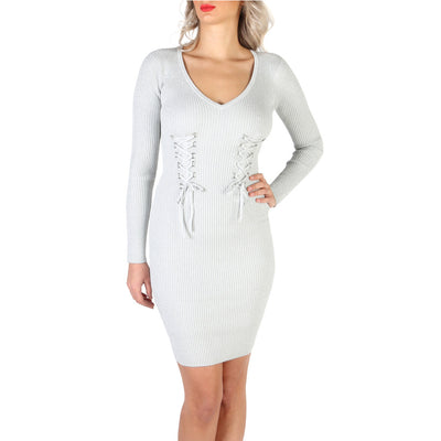 Guess - W83K05_R1IB0 Long Sleeve Pencil Mini Dress in Grey