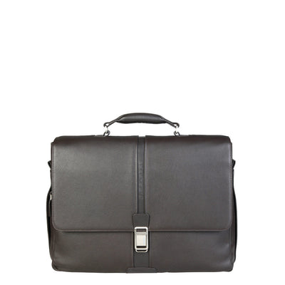 Piquadro CA1744X1 Leather Briefcase in Brown
