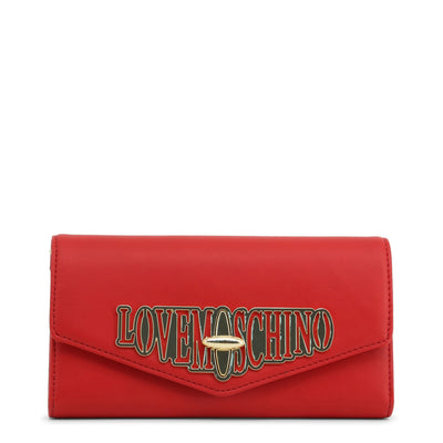 Love Moschino  JC5608PP18LF Faux Leather Clutch Bag In Red