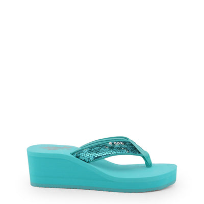 U.S. Polo CHANT4199S8_T1 Wedge Flip Flop in Mint Green