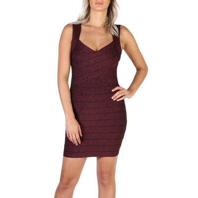 Guess - W84KG3_P2995 Sleeveless Mini Dress in Violet