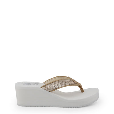 U.S. Polo CHANT4199S8_T1 Wedge Flip Flop in White