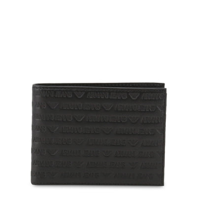 Armani Jeans - 938538_CD999 Men Leather Wallet in Black