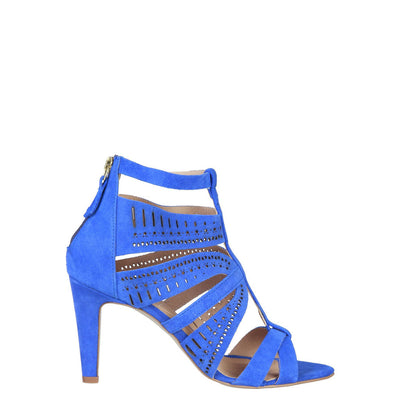 Pierre Cardin AXELLE Real Leather High Heel Sandals in Blue