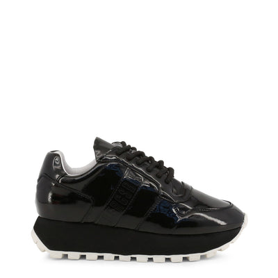 Bikkembergs FENDER 2087 PATENT Leather Sneakers Black