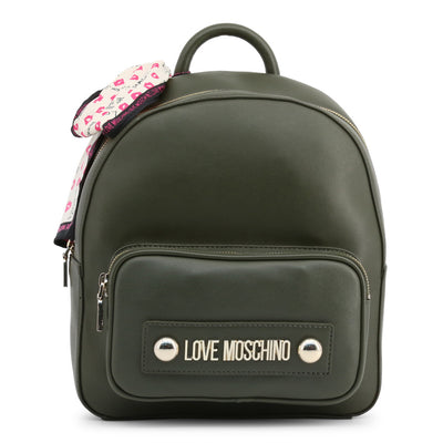 Love Moschino  JC4034PP18LC Faux Leather Backpack In Green