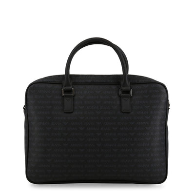 Armani Jeans 932530_CD996 Faux Leather Briefcase in Black