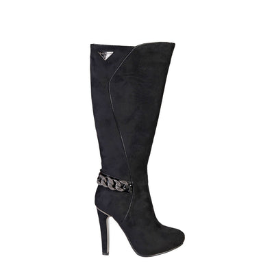 Laura Biagiotti 2233 High Heel Wide Fit Boots in Black