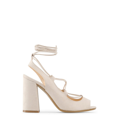 Made in Italia - LINDA Block Heel Sandals in Beige & Brown