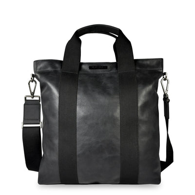 Police PT392123 Leather Briefcase in Black
